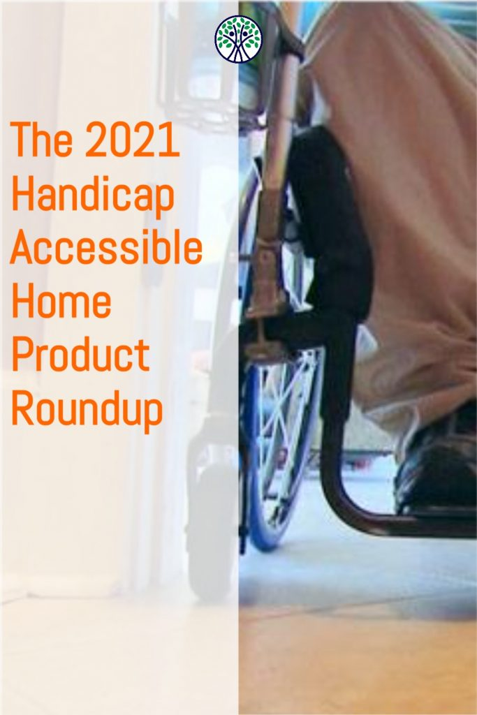 The 2021 accessible home product #roundup includes everything you need to make your home #handicap #accessible. Wheelchair ramps, bathroom grab bars, smart home light switches, and more! #disability #ALSAwareness #sci #homedesign
